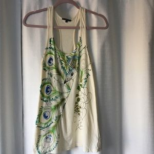 Truly Madly Deeply peacock tank Urban Outfitters